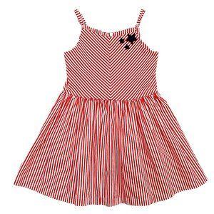 Gymboree Red & White Striped Sun Dress
